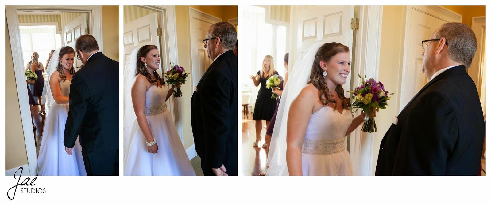 Jonathan and Julie, Bird cage, West Manor Estate, Wedding, Lynchburg, Virginia, Jae Studios, wedding dress, bridesmaids, father, flowers, bouquet, veil, crying, laughing, getting ready