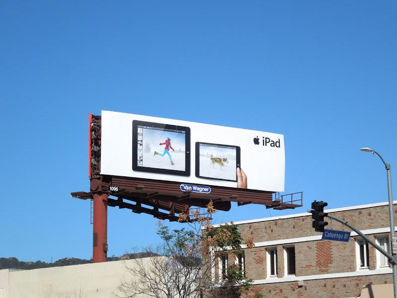 iPad snow husky billboard