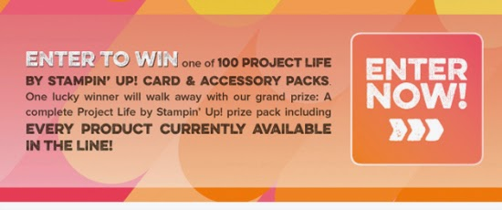Click this box now to enter the Project Life by Stampin' Up! giveaway