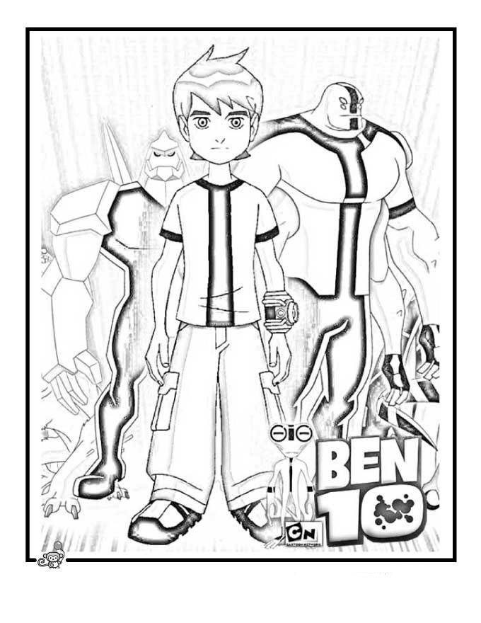 Dibujo para Colorear e Imprimir Ben Ten. ~ Pintamonos