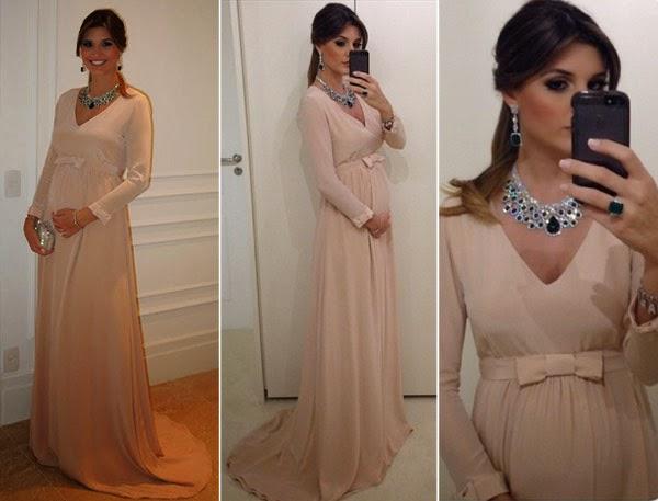 Vestido de festa para gestante 2015