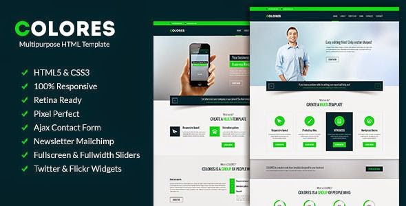 Colores - Multipurpose Corporate Template