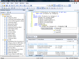 تحميل برنامج التعديل علي ملفات قواعد البيانات Universal SQL Editor 1.5.0.2
