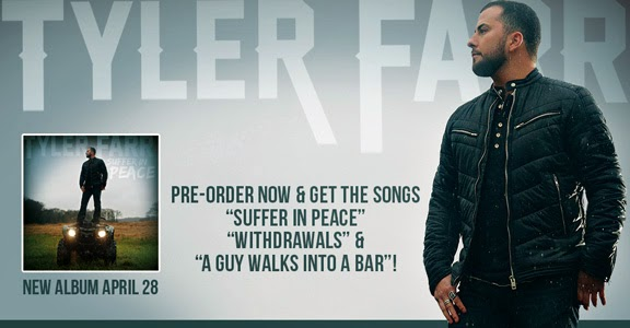 Tyler Farr Suffer in Peace Album Preorder on iTunes for $7.99 with 3 free songs