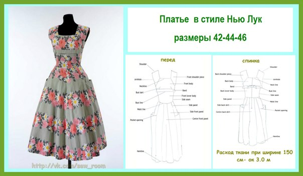 Выкройки для платьев девушками