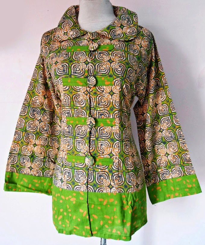 Model Baju Pesta Atasan Batik Modern