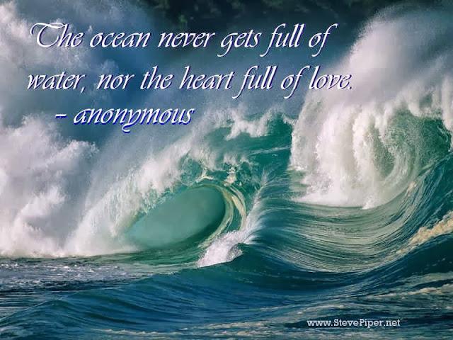 ocean, heart, love