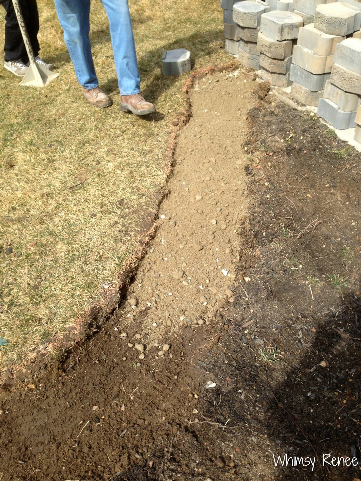 Whimsy Renee: Building a Garden Wall - The Beginning