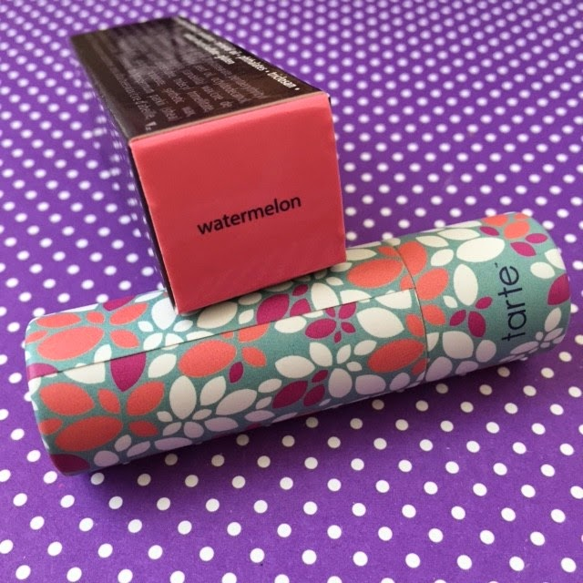 Tarte Amazonian Butter Lipstick Review And Swatches In Poppy Tulip