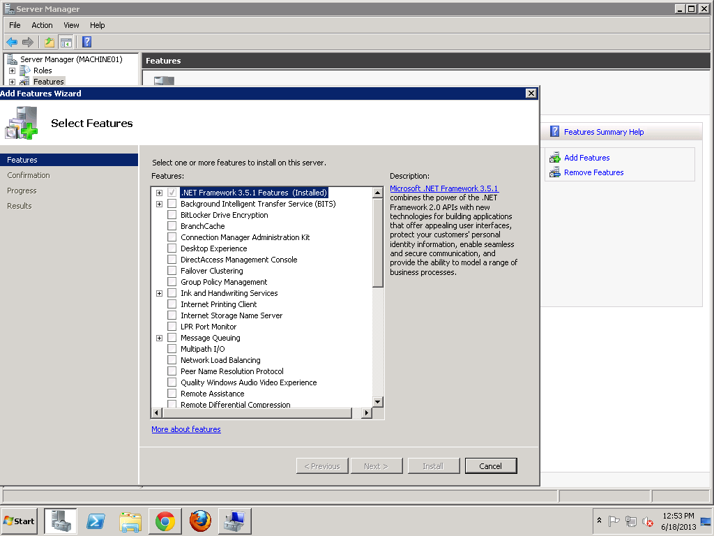Tutorial Install Net Framework di windows server 2008 R2 ~ Hexacom