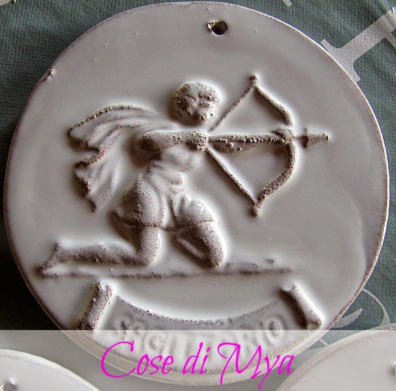 segni zodiacali in ceramica