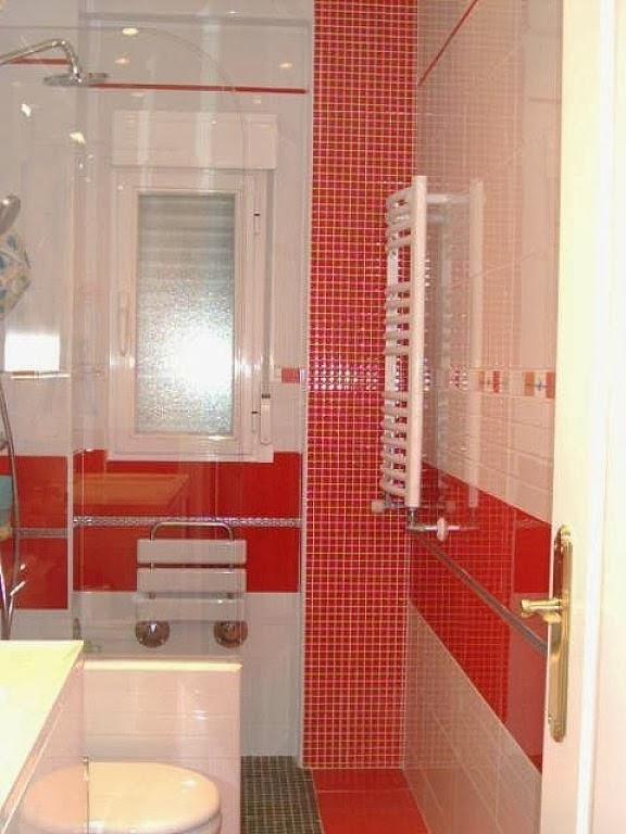 Bricolage e Decoração Decoração de Casas de Banho(Banheiros) com inspiração  -> Decoracao De Banheiro Vermelho E Branco