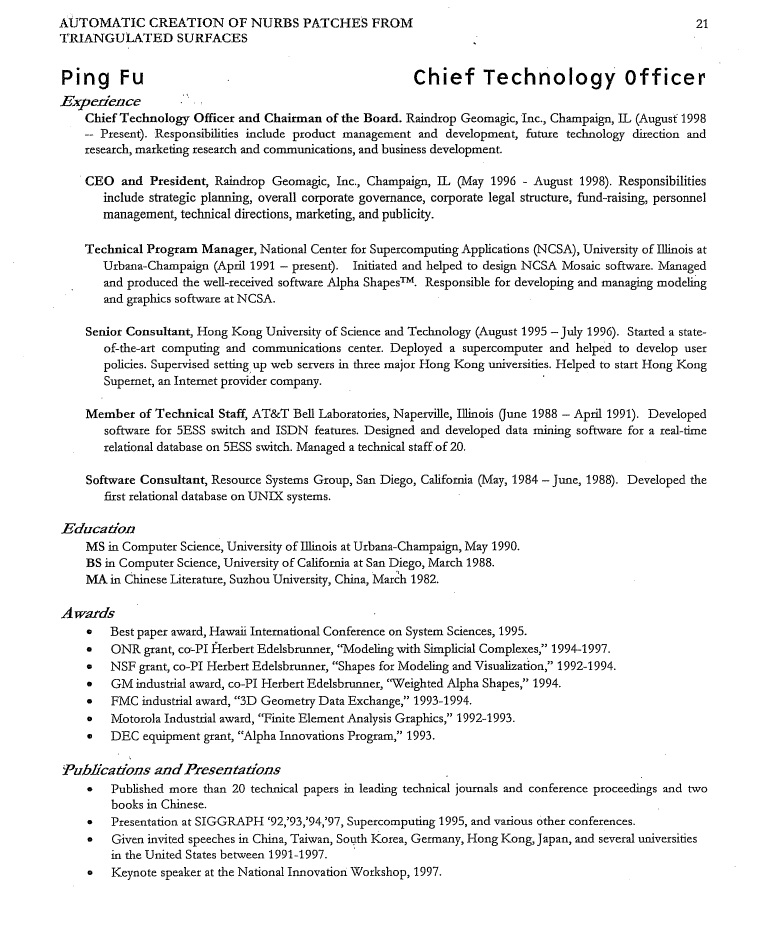 debunking bend  not break  document  fu ping u0026 39 s resume for