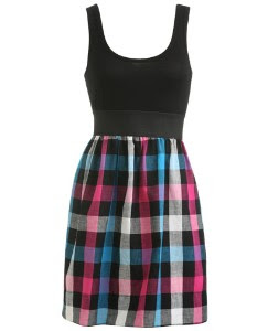Buffalo Check Tank Dress
