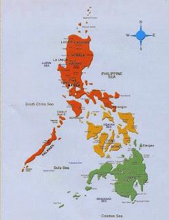 Filipinet - Hartat gjeografike e Filipineve