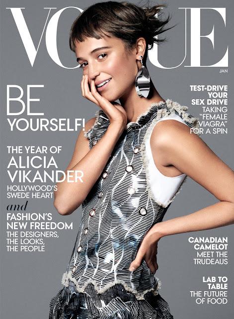 Actress, @ Alicia Vikander - David Sims for Vogue US, January 2016