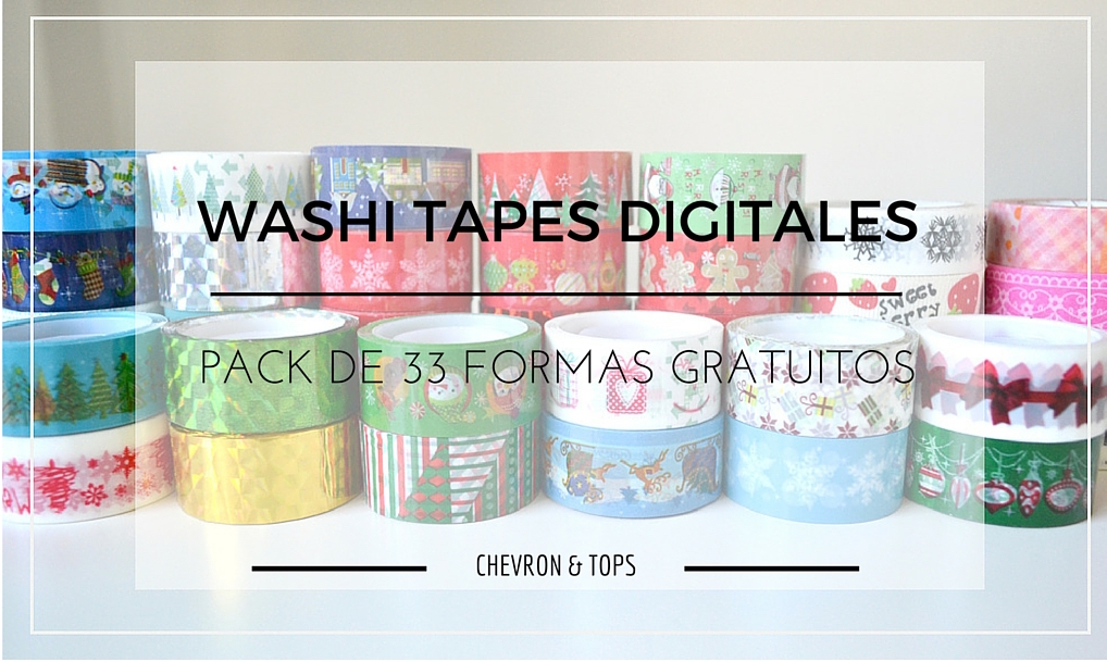 WASHITAPES DIGITALES - CHEVRON & TOPS