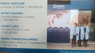 Widex Andújar. Teléfono: 953-505101.
