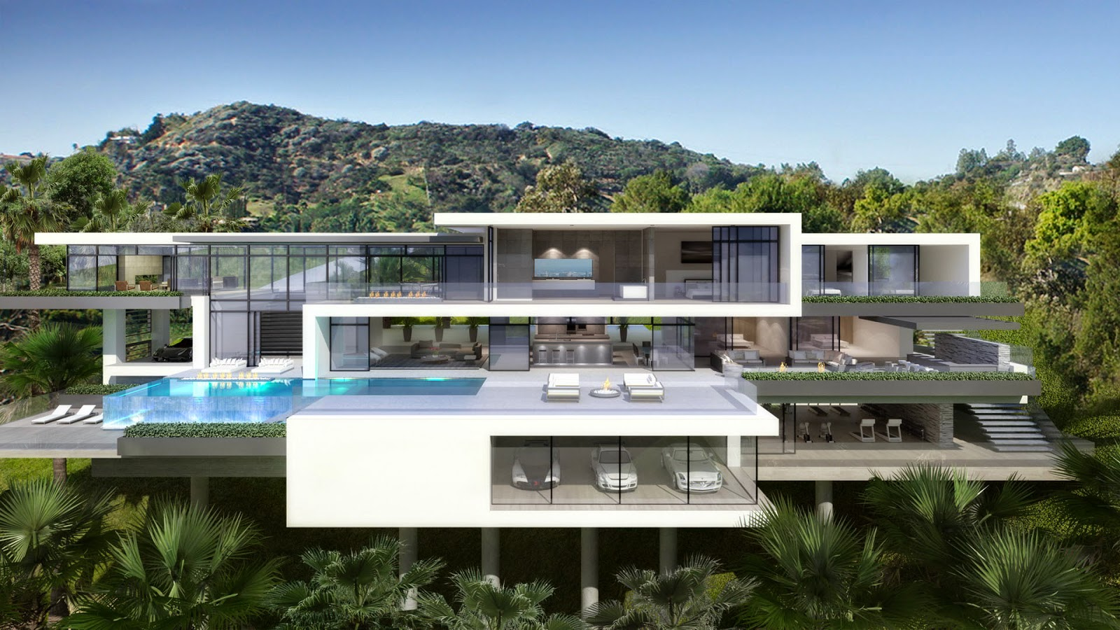 Contemporary mansions on sunset plaza drive la purchase and sale cars