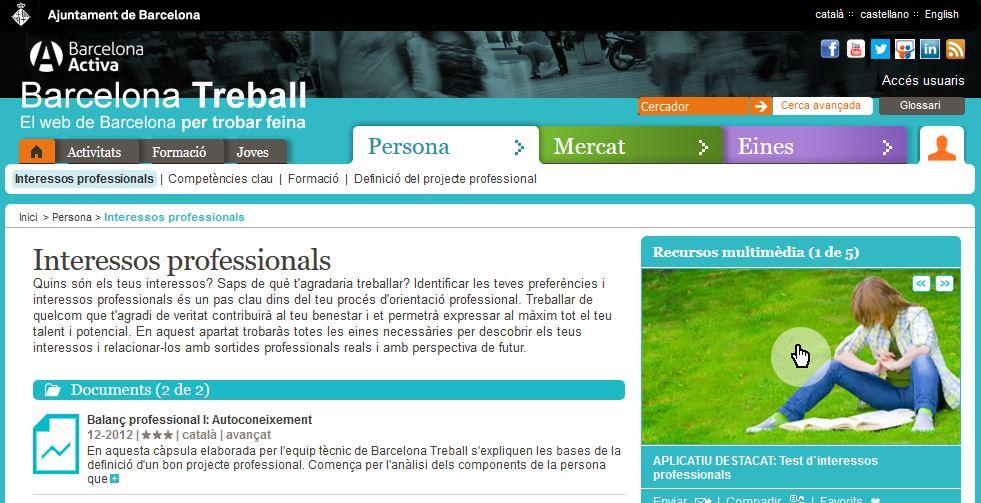Interessos professionals - Barcelona Activa