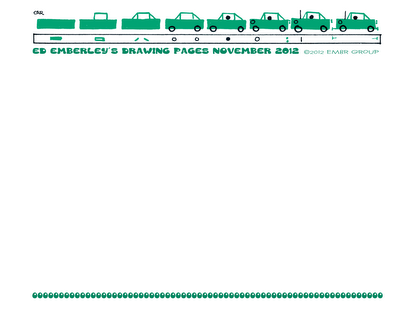 Ed Emberley's Free Drawing Pages - Car