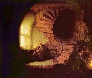 El filósofo meditando, de Rembrandt.