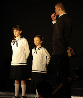 Captain Von Trapp with Gretl and Marta
