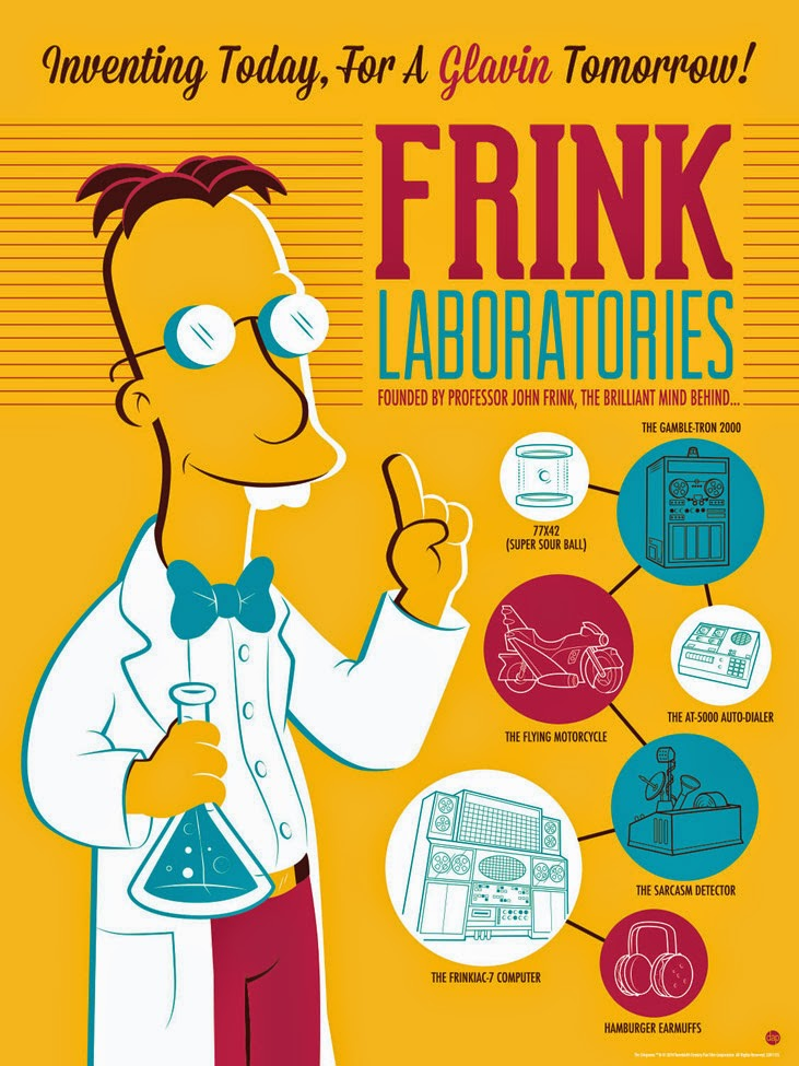 """""""Frink Laboratories"""" The Simpsons Screen Print by Dave Perillo"""