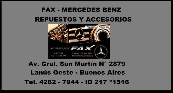 FAX - MERCEDES BENZ