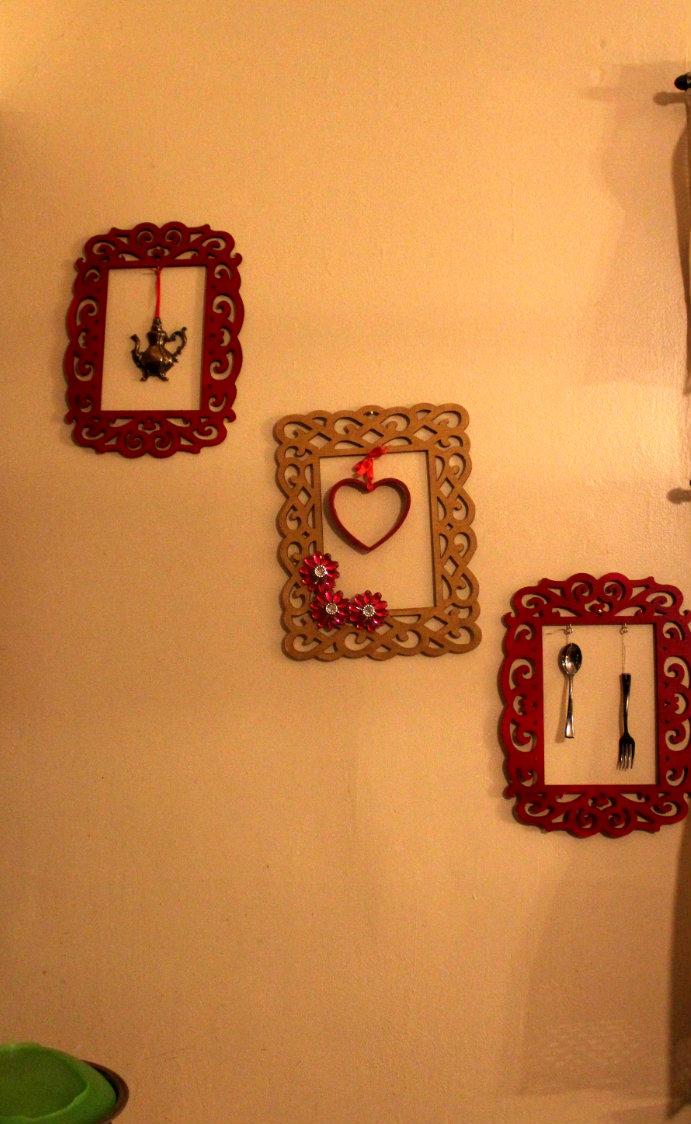 Imprints handmade simple diy kitchen wall decor for Handmade kitchen decoration
