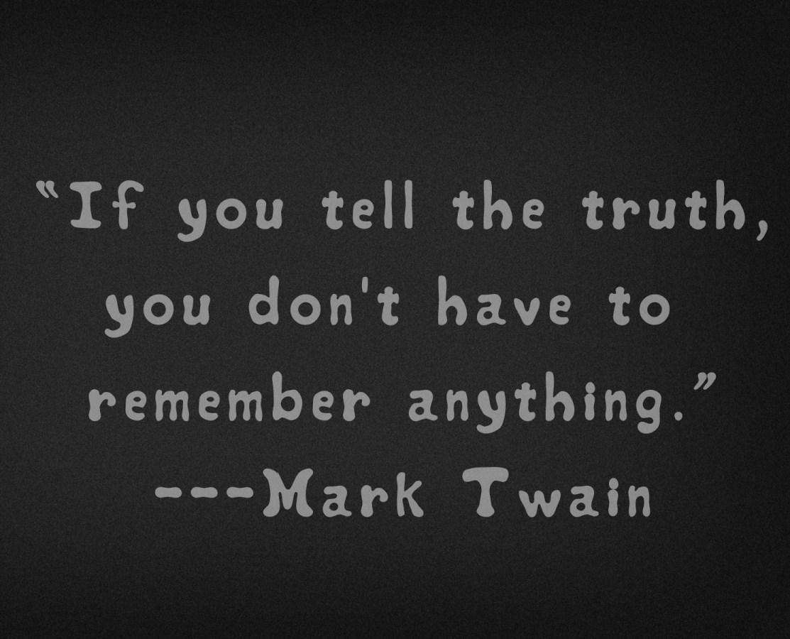 Mark Twain Honesty Truth Quote