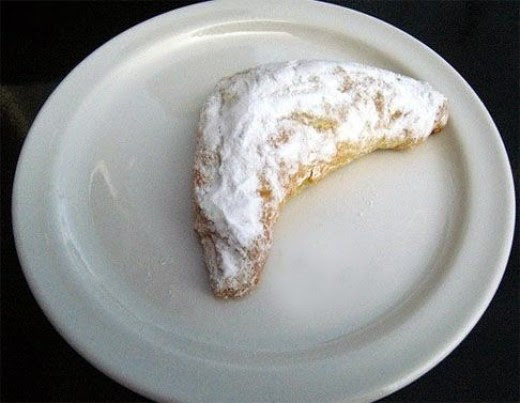 kifli traditional hungarian pastry powdered