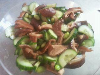edamame mushroom salad