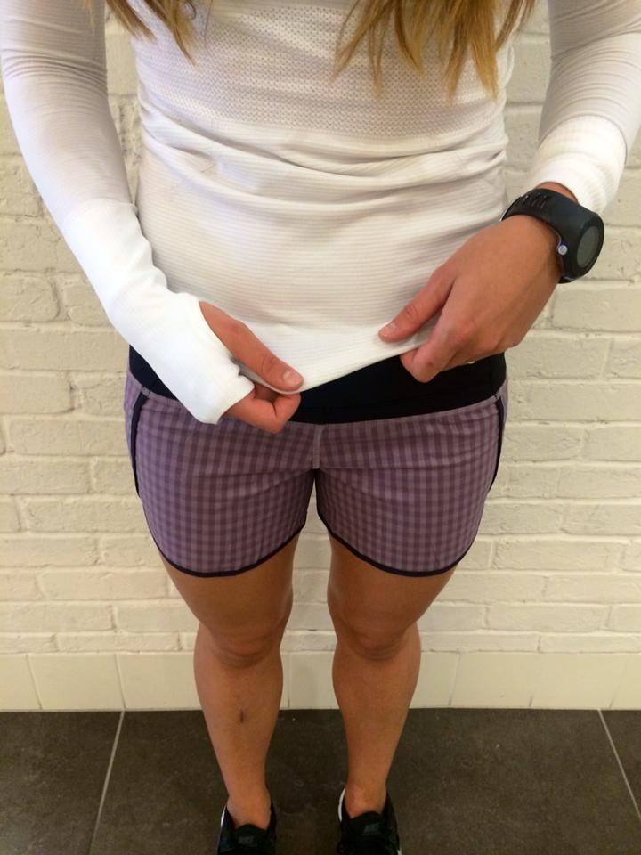 lululemon mauvelous gin gin gingham speed short