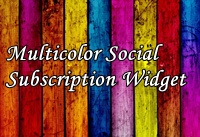 Multicolor Social Subscription Widget For Blogger And WordPress