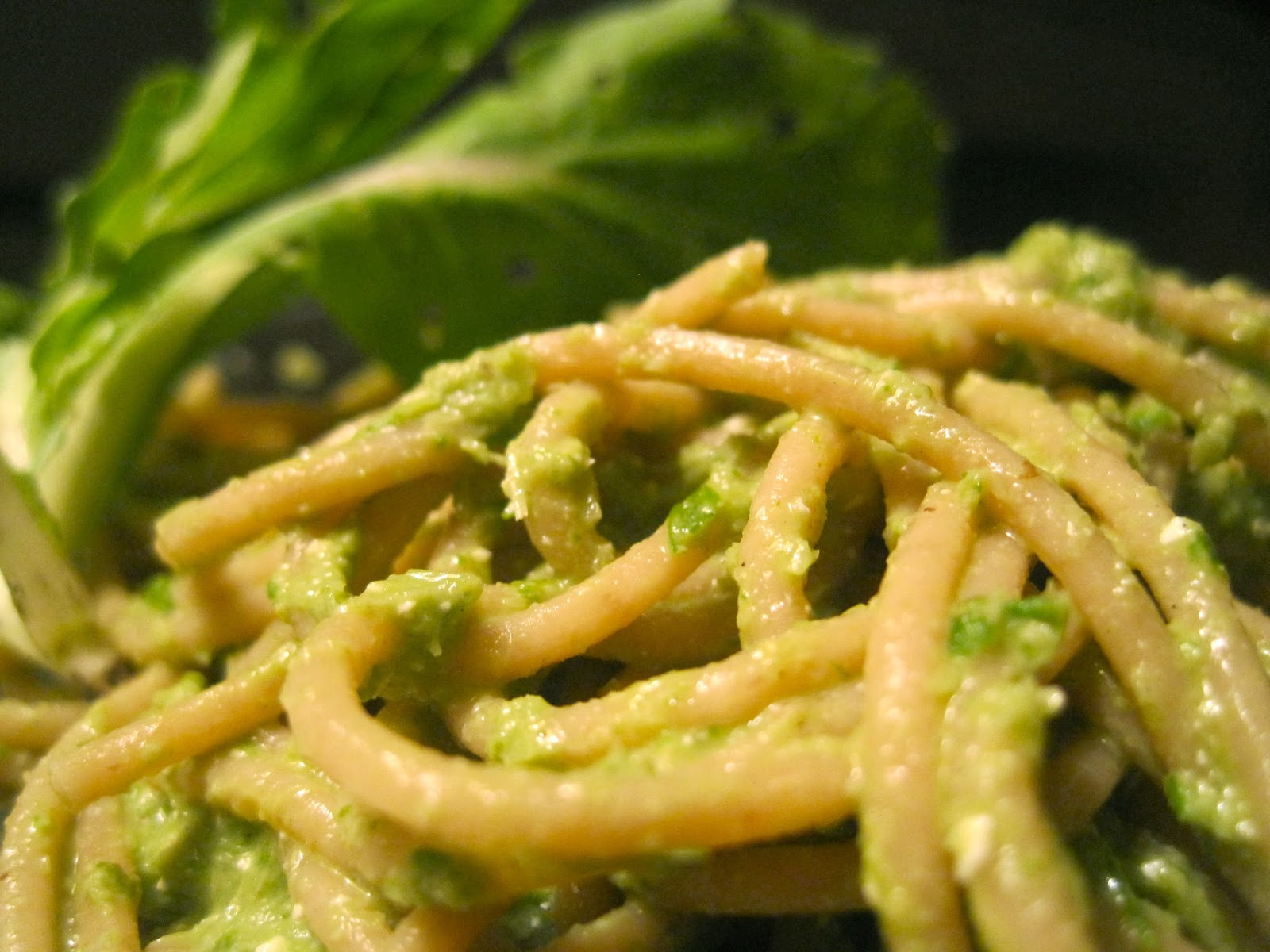 Kvell in the Kitchen: Pasta with Garlic Scape Pesto