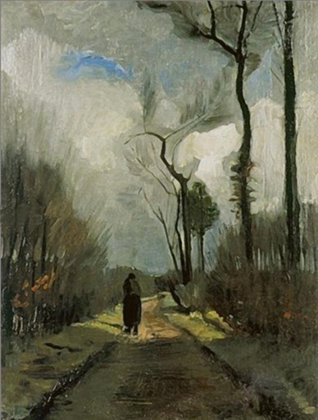 Lane in Autumn by Vincent van Gogh