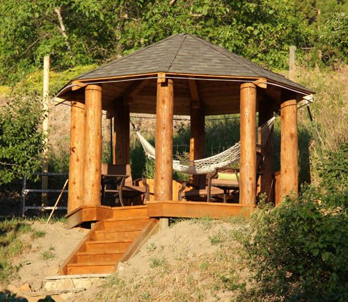 Log home info june 2012 for Rustic gazebo kits