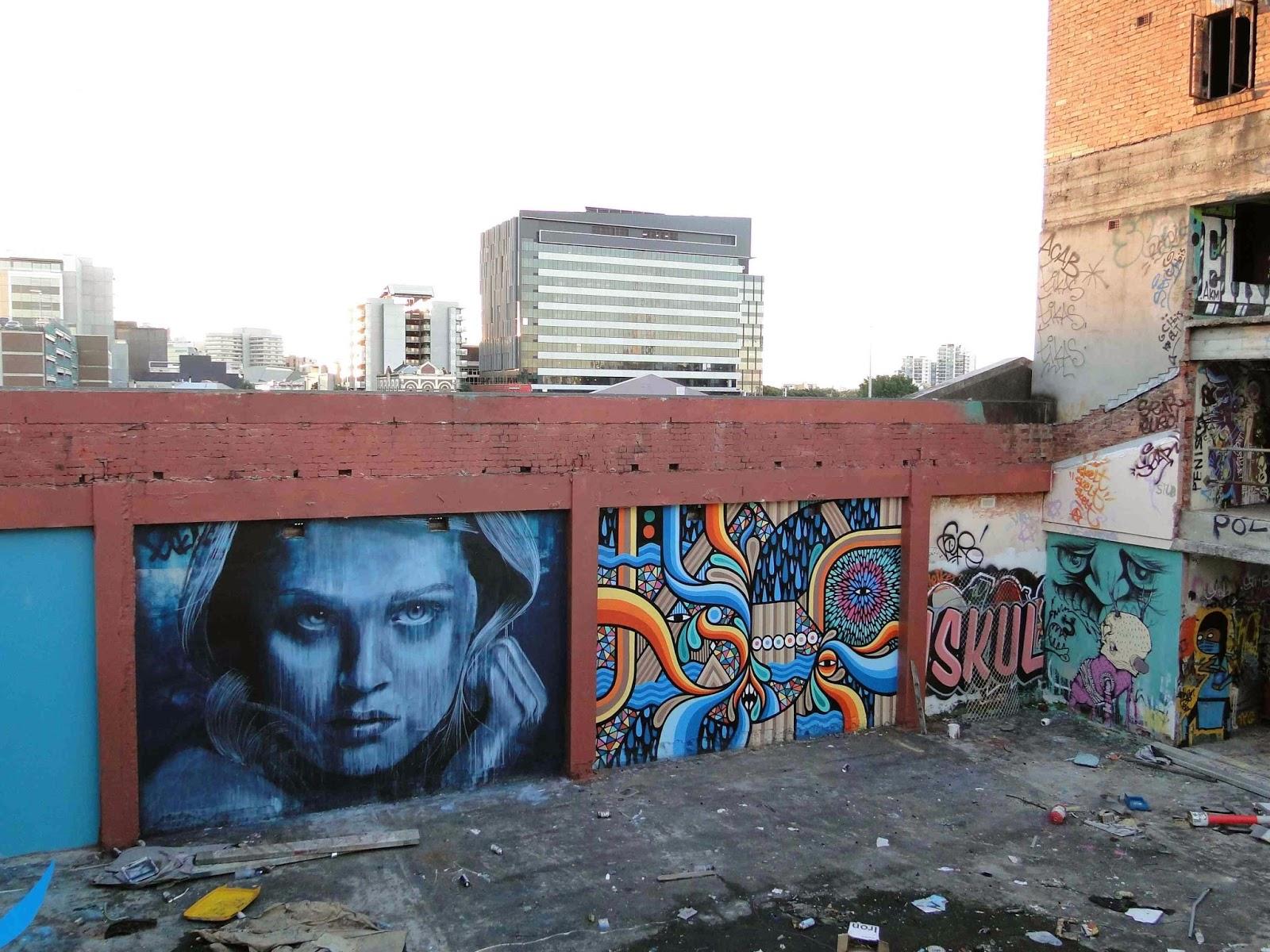 Rone new mural in brisbane australia streetartnews for Australian mural
