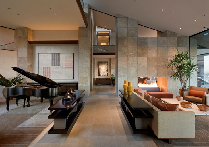 Interior of modern Dream home in the desert, Paradise Valley