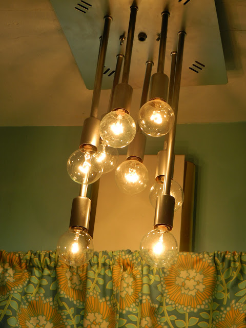DIY upcycled vintage retro space age bubble chandelier light  Just Peachy, Darling