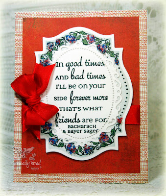Our Daily Bread designs Flower Border Friends Designer Dawn Lusk