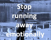 Stop Running Away Emotionally - Woman Running