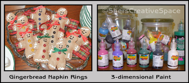 using 3-dimensional paints, fabric paints, craft tips, sewing tips