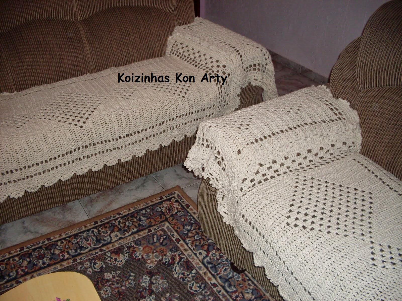 Jogo de manta / capa / protetor de sofá Koizinhas Kon Arty  #3E2F29 1600x1200