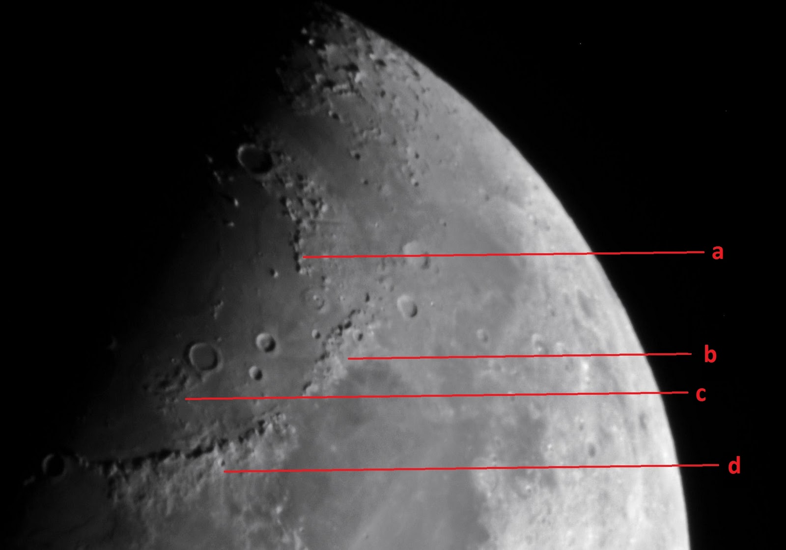 Little hubble: geologi bulan menerusi teleskop dan binokular