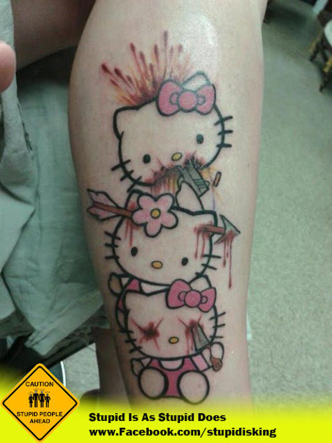Strange Hello Kitty Tattoo