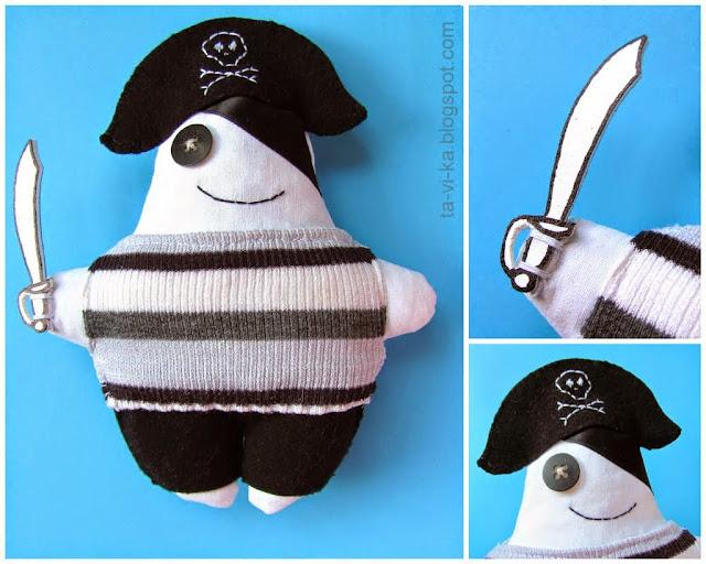 самодельная кукла пират