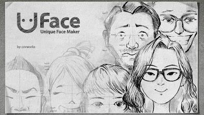 Membuat Sketsa Wajah dengan Uface - Unique Face Maker Android