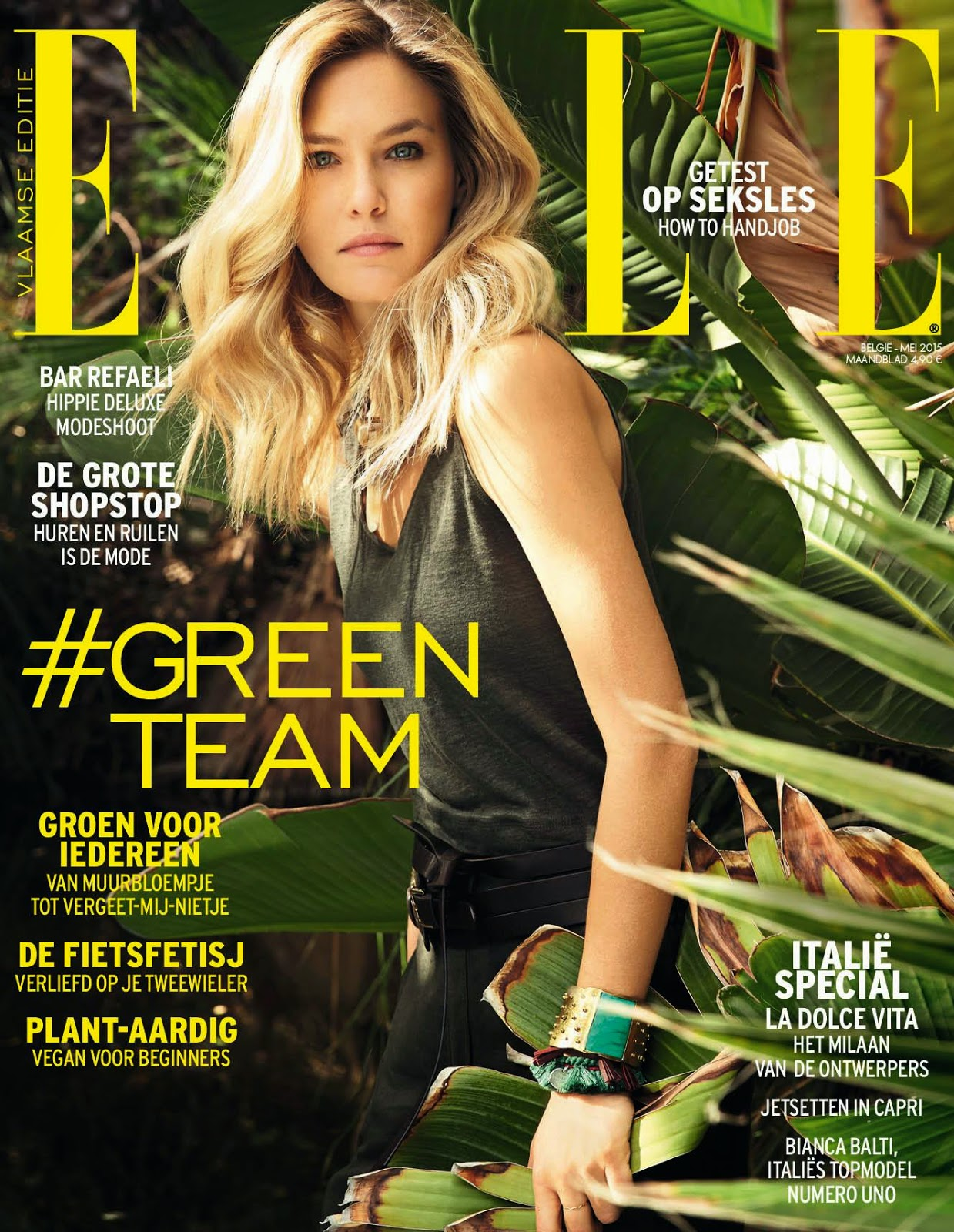 Fashion Model, Actress @ Bar Refaeli - Elle Belgium, May 2015